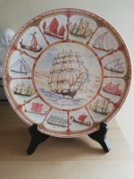 Wedgwood- hajós dísztányér