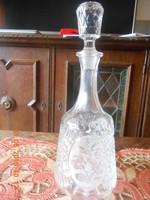Ólomkristály palack dugóval 33 cm