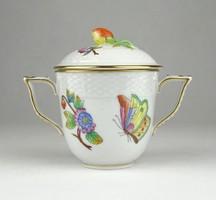 0X996 Viktóriamintás Herendi porcelán bonbonier