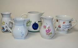 Porcelán készlet, márkás, 5 darabos