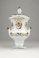 0X988 Régi német PM porcelán urna 16 cm