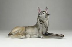 0X981 Régi DRASCHE porcelán németjuhász kutya