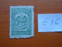 """KOLUMBIA 3 C 1920 számok és címer az aláírási sávmal """"PROVISIONAL"""" felirattal E16"""