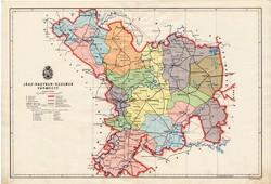 Jász - Nagykun - Szolnok vármegye térkép 1934, csonka Magyarország, megye, régi, atlasz, eredeti