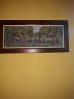 Erdő festmény keretben!