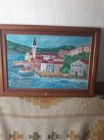 Kikötő festmény