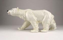 0X982 Régi nagyméretű ENS porcelán jegesmedve