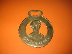 Bronz dísz   , bőr  , ló szerszámhoz  Queen  Mary
