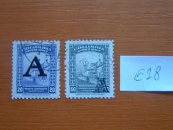 """KOLUMBIA 20 + 60 C 1950 légiposta - Korábbi kiadások felülírva A = """"Avianca"""" 1941 Airmail  E28"""