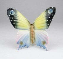 0X991 Régi Volkstedter porcelán pillangó