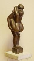 Erotikus bronz szobor, Csáky jelzéssel,27 cm