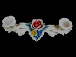 28 cm! ENS rózsás gyertyatartó