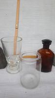 Régi üvegtárgyak