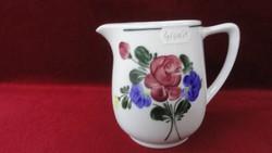 LILIEN porcelán Ausztria, kézzel festett tejkiöntő, magassága 11,5 cm.