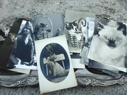 65 db régi és antik fekete-fehér képeslap
