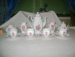 Rózsás porcelán kávéskészlet