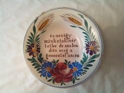 Miatyánkos apátfalvi tányér (6)