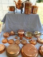 Hatalmas réz főző és sütemény gyűjtemény eladó