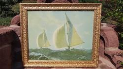 Képkeret,falc 45 x 57 cm, (0,9 cm széles és mély),külméret 55x67 cm, antik, fa, aranyozott