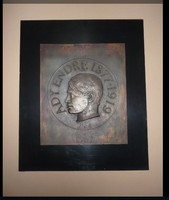 ADY ENDRE bronz portré plakett  Gergely István
