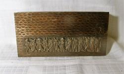 Retro Iparművészeti bronz doboz