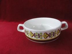 LILIEN porcelán Ausztria, leveses csésze, sárga/barna mintával.