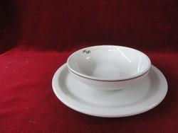 LILIEN porcelán müzlis tálka + alátét.
