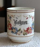 Franz Anton Mehlem Bonn Poppelsdorf fajansz konyhai tároló edény, nagy méret