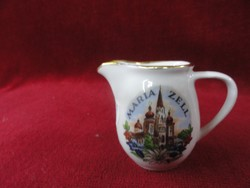 LILIEN porcelán Ausztria mini emlékkancsó, MARIA ZELL látképpel.