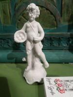12 cm-es , hibátlan , kis puttó biszkvit porcelánból , koronás , általam nem ismert jelzéssel .