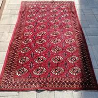 Kézi csomózású afgán bokhara szőnyeg.200x116cm