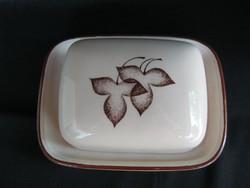 Német porcelán fedeles vajtartó
