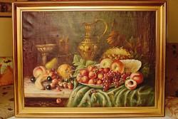 Gyümölcskosár olajfestmény Páldeák 1950.