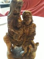 Antik fából faragott szent szobor eladó