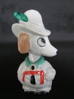 Wagner & Apel német porcelán mozgó fejű kutya