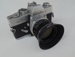 MINOLTA SRT 101 fényképezőgép +Minolta MC W.Rokkor-HG 35mm f2.8 Lens obketív