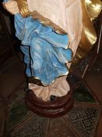50 cm magas egyházi díszgyertya, remek állapotban, törés-, és karcmentes, igen szép festéssel