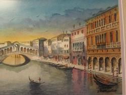 Rendkivűl részletes akvarell csodás keretében