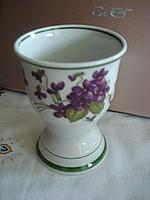 Gyönyörű ibolyás talpas  porcelán pohár csésze bögre 2,5 dl-es