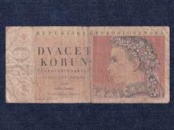 Csehszlovákia 20 Korona bankjegy 1949 / id 10625/