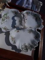 Osztott porcelán asztalközép kínáló