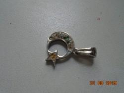 Hold Nap kis ezüst medál pici strasszkövekkel