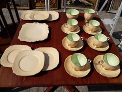 Angol, Qeen Anne porcelán csésze tányér.