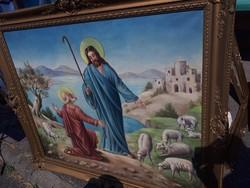 Nagyméretű olaj vászon festmény