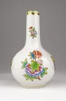 0X998 Viktóriamintás Herendi porcelán váza 14.5 cm