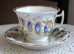 Antik bíder porcelán teás szett
