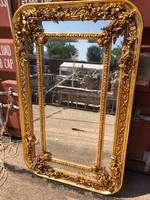 Biedermeier Lekerekített formájú aranyozott tükör