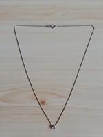 1,-Ft Gyönyörű 18K fehér arany nyaklánc,gyémánttal!