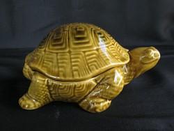 Kerámia teknős bonbonier doboz ékszertartó