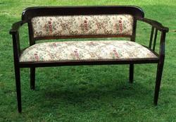 Szecessziós kanapé, szófa hibátlan kárpittal